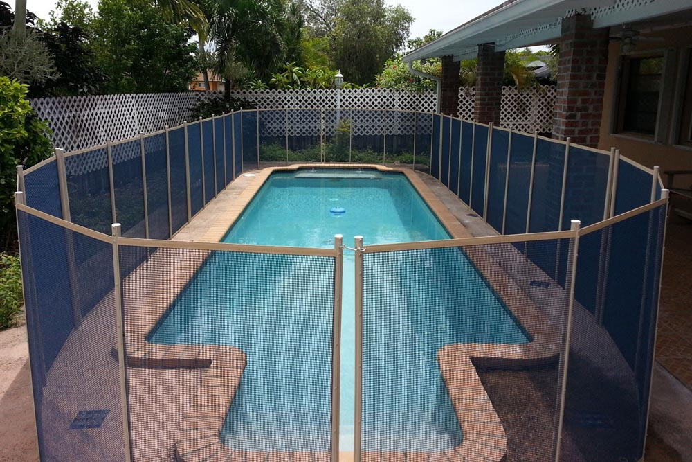 Pool Fence blue swimming pool fences - baby guard pool fence