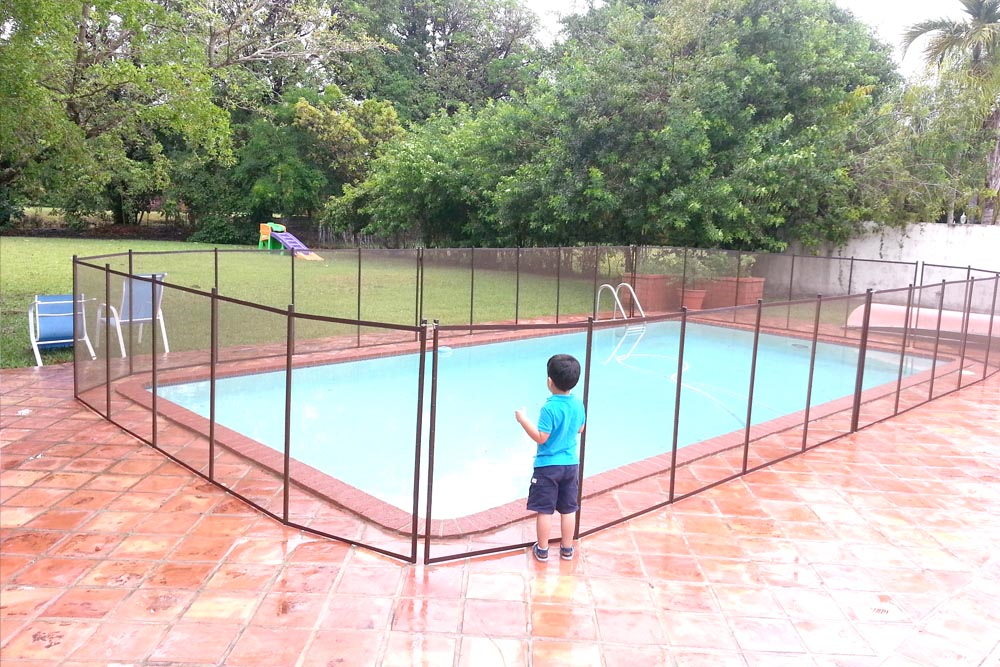Brown Swimming Pool Fences - Baby Guard Pool Fence